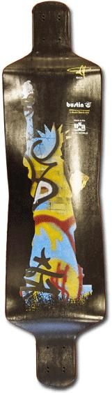 Bustin Ibach 40 Statue 9-Ply Longboard Skateboard Deck Only With Grip $118.95 At Action Board Sports www.absboards.com