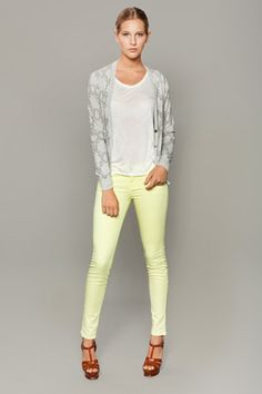 Sjobeck Spring '12...I love the mint green paired with the gray cardi...so unexpected and fun!