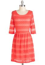Boost Your Coral Dress | Mod Retro Vintage Dresses | ModCloth.com