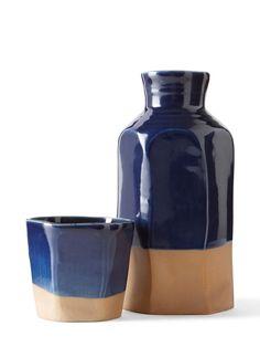 Ceramic Water Carafe and Cup Set