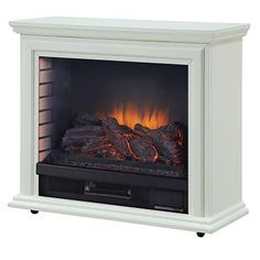 Pleasant Hearth 31.73-in W 5,200-BTU White Wood and Metal Infrared Quartz Electric Fireplace with Thermostat