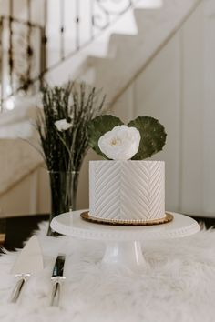 """Large White Cake Stand- 12"""""""