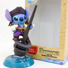 Stitch Pirates of Caribbean Ballpoint Pen Stand Figure Disney JAPAN ANIME