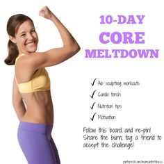 Free core challenge by Lindsay Brin! Love her!