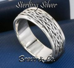 SIZE 9 Solid Sterling Silver Wedding Engagement Promise Thumb Men Ring R-200