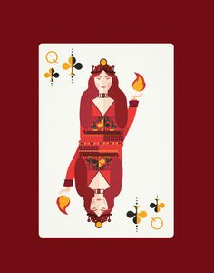 Melisandre as the Queen of Clubs by penleydesigns