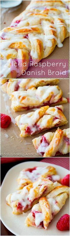 Step-by-step photos for making an Iced Danish Pastry Braid - using the quick pastry method! I love it with raspberry filling.