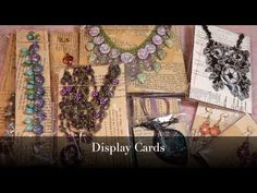 Creating Jewelry Display Cards for Earrings, Necklaces and Bracelets Diy Jewelry Hanger, Diy Jewelry Rings, Sparkly Jewelry, Bead Jewelry, Craft Packaging, Packaging Ideas, Wooden Jewelry Boxes, Clay Flowers, Polymer Clay Beads
