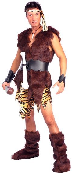 Man Cave Urban Jungle : Adult cool caveman costume party city halloween