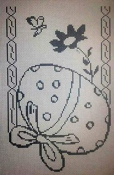 Filet Crochet Charts, Crochet Motif, Crochet Doilies, Crochet Lace, Crochet Thread Patterns, Christmas Crochet Patterns, Embroidery Patterns, Boarder Designs, Fillet Crochet