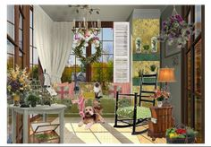 Check out this moodboard created on @Cheryl Brogan: quaint little garden room  by carimurphy