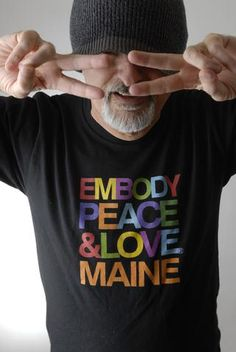 Men's Embody Peace and Love T-shirt for custom orders only on American Apparel. Add your own city, state, or country to this design.