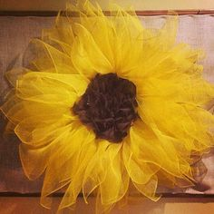 Love my new Sunflower wreath.  Just made me smile making it and even more to look at it.
