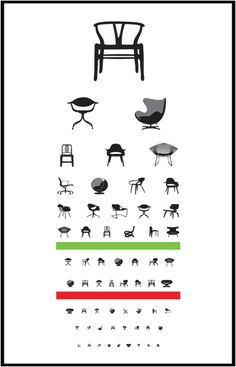 chair eye test poster