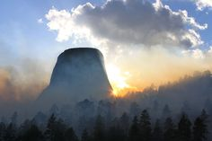 Taken during the Belle Fouche prescribed burn at Devils Tower National Monument, Wyoming. (© Drew Gilmour/National Geographic Traveler Photo Contest) #