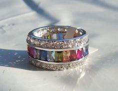 ♥♥925 STERLING SILVER RAINBOW RING SZ 9♥♥ http://www.listia.com/auction/21191868-925-sterling-silver-rainbow-ring-sz-9
