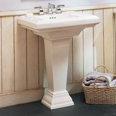 View Town Square 27 Inch Pedestal Sink Alternate View