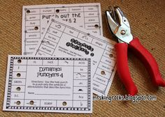 Mrs. King's Music Room: Punch Cards in Music Class