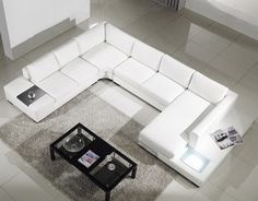 Modern Bonded Leather Sectional Sofa (Multiple Colors) TOS-LF-2029-BNTOS-LF-2066-BN