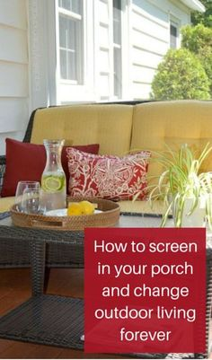 How to screen in your porch and change outdoor living forever.  http://www.hometalk.com/l/hQq