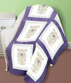 QUILT BLOCKS RELIGIOUS CROSS PATTERNPLUS