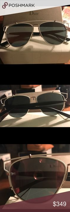 Authentic Christian Dior White Mirror Sunnies -NEW Gorgeous and hot white with mirror lenses - never worn. Comes with original box. Stunning on, flat and unique. Christian Dior Accessories Sunglasses