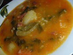Sopa riojana, Receta Petitchef Chorizo, Chana Masala, Thai Red Curry, Pasta, Ethnic Recipes, Food, Veggie Soup, Legumes, Cooking Recipes