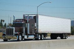 Big Rig Trucks, Semi Trucks, Peterbilt 389, Big And Beautiful, Buses, Rigs, Heavy Metal, Trailers, Pond