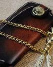Handmade Men long leather wallet men multi cards vintage gray brown wa   EverHandmade