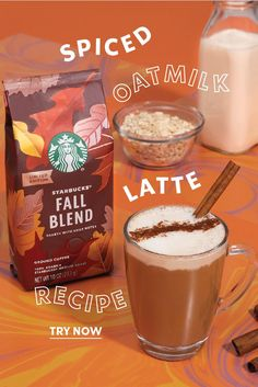 Keep your fall nice and spiced with our Spiced Oatmilk Latte. Delicious and dairy-free, grab a bag of ourhearty Fall Blend coffee and try your hand at this delectable seasonal recipe that's sure to become a fast favorite. Thanksgiving Recipes, Fall Recipes, Workout Meal Plan, Happy Hour Drinks, Fall Breakfast, Latte Recipe, Blended Coffee, Coffee Recipes, Copycat Recipes