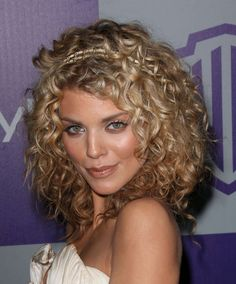 blonde curly