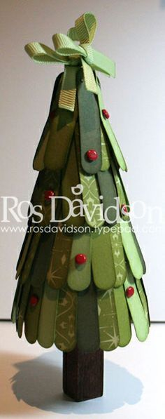 christmas trees from popsicle sticks | Popsicle Stick Christmas Tree