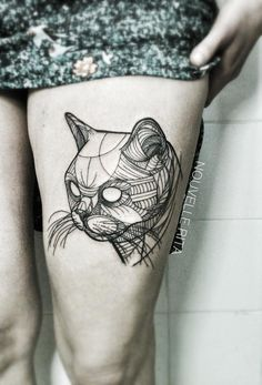 Nouvelle Rita #Cat #Tatto - I like this type of illustrative style