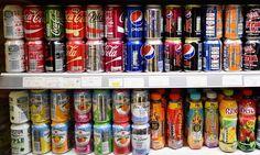 Fizzy drinks shelf