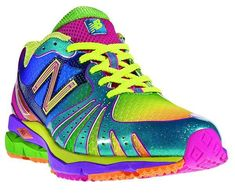 New Balance multi-colored running shoes. Wish these came in cross trainers.