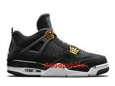 Air Jordan 4 Officiel pas cher Retro Royalty Or Homme noir 308497-032