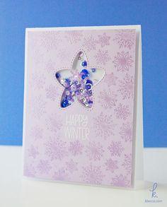 Kristen from k.becca | Pretty Pink Posh Winter Wonderland Happy Winter Card