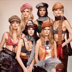 Lara Stone, Anna Ewers, Vittoria Ceretti, Doutzen Kroes, Joan Smalls and Natasha Poly by Luigi & Iango for Vogue Japan September 2017