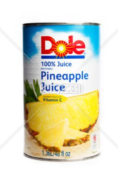 can of pineapple juice - A can of pine apple juice isolated on a white background