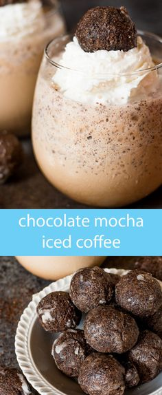 5 ingredients make up this creamy chocolate mocha iced coffee. The cool, refreshing flavor is just the pick-me-up you need! via @tastesoflizzyt