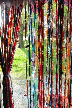 My Gypsy Vardo door bell curtains bohemian by TheSleepyArmadillo