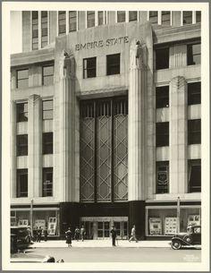 ESB Entrance 1931 NYPL Keithyorkcity.wordpress.com  Great Blog on NYC