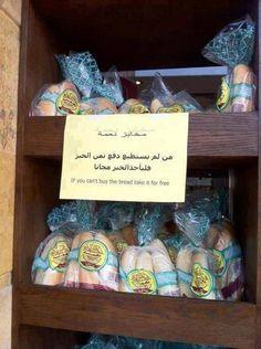 Kedai di Arab Saudi: Tak mampu beli ambil saja 15 Mei 2013 Busi