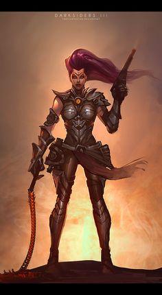 Darksiders Horsemen, Darksiders Game, Darksiders Death, Fantasy Armor, Fantasy Weapons, Fantasy Girl, Dark Fantasy, Dark Siders, Deadliest Warrior