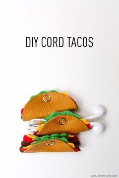 Best DIY Gifts for Girls - DIY Cord Tacos -Cute Crafts and DIY Projects that Make Cool DYI Gift Ideas for Young and Older Girls, Teens and Teenagers - Awesome Room and Home Decor for Bedroom, Fashion, Jewelry and Hair Accessories - Cheap Craft Projects To