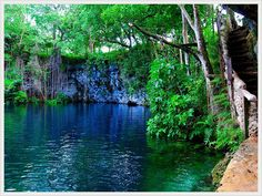 Dudu Blue Lagoon, Cabrera, Dominican Republic. This site have proudly been voted the #1 Natural Place of the North Coast of Dominican Republic. Dudu Blue Lagoon a fantastically clear freshwater pools. is so clean that is shimmers a shade of blue. The surroundings are truly beautiful.  isairatours.com Tel. 809-320-1433 Explore the Dominican Republic with us!