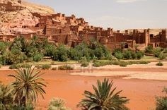 Ait Benhaddou, an ancient fortress city in Morocco near Ouarzazate on the edge of the sahara desert.  (Used in films such as Gladiator, Kundun, Lawrence of Arabia, Kingdom of Heaven) -  Stock Photo