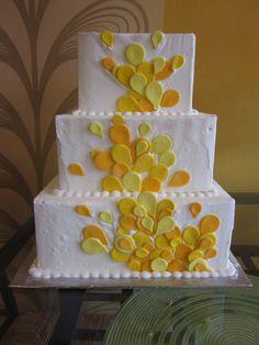 Yellow splash Cake