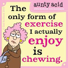 I'm great at that exercise