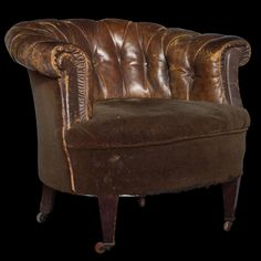 Leather Club Chair :: Obsolete